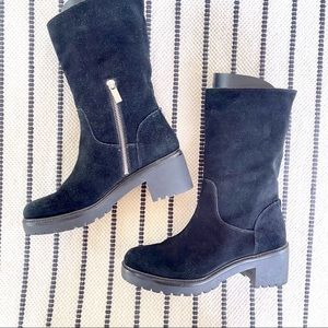 Michael Kors Whitaker Suede Chunky Boot Size 8